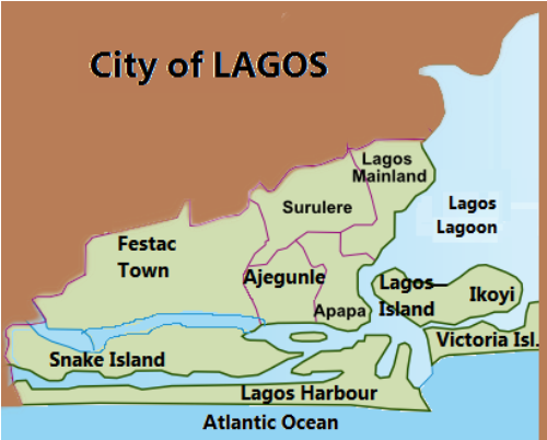 lagos nigeria map