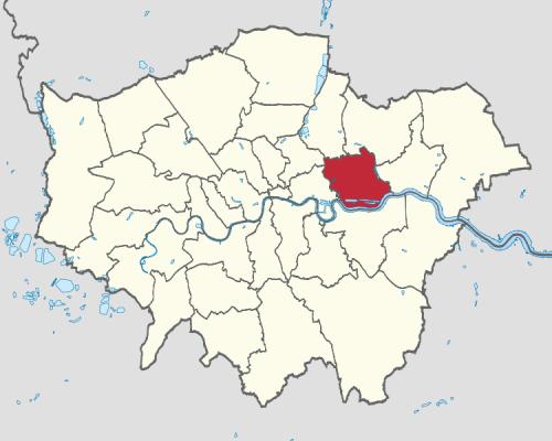 London Borough of Newham Map