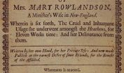 Facts about Mary Rowlandson