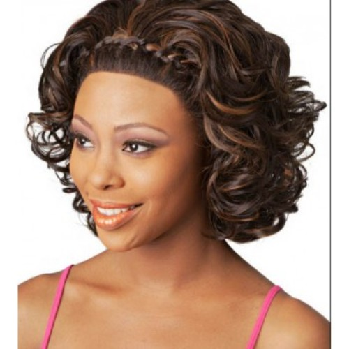 lace front wigs images