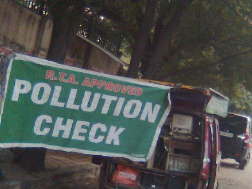 land pollution banner
