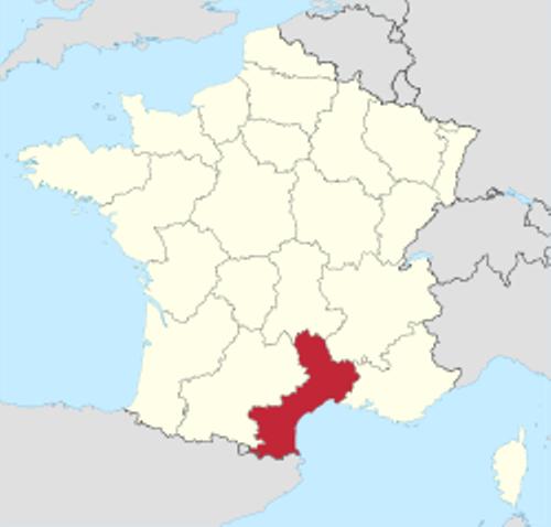 languedoc-roussillon map