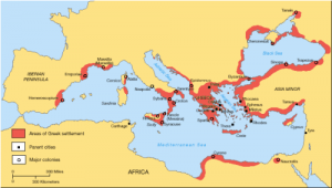 Life in Ancient Greece Map